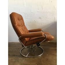 vintage mid century modern reclining chair by ekornes stressless