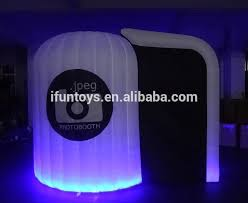 Inflatable Photo Booth Portable Black Inflatable Photo Cube Booth Tent Without Led