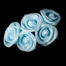 light blue flowers comb 4647 light blue wedding hair flowers