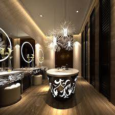 modern luxury public restroom interior with ornaments 3d model max