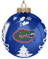 memory company florida gators glass tree ornament