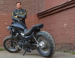 biker with custom yamaha xv virago 535 custom motorcycles