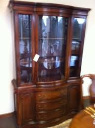 curved glass china cabinet consignment furniture found interiors furniture home
