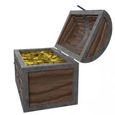 golden treasure chest 3d model cgstudio