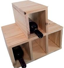 handmade 4 bottle table top wooden wine rack by wrought iron home