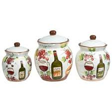 wine kitchen canisters wine and grapes canisters wayfair
