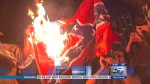 Confederacy Flags Confederate Flags Set On Fire In Chicago Abc7chicago Com