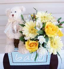 Baby Shower Flower Centerpieces by Baby Shower Arrangement Flower Arrangement Teddy Bear Its A