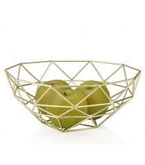 metal fruit basket geometric metal fruit basket