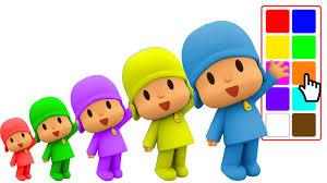 Color For Happy Pocoyo Colors Learn Colors With Talking Pocoyo Colorful Pocoyo