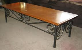 coffee table wonderful wrought iron table legs coffee table
