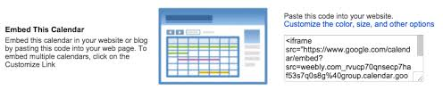 add a calendar to your site u2013 weebly help center