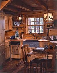 jack hanna u0027s cozy log cabin in montana log cabin kitchens cabin