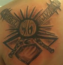tattoo back cross 15 baseball tattoo designs and images