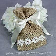 lace favor bags burlap favor bags 4x6 inches
