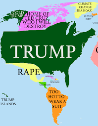 The World Map Labeled by How Donald Trump Sees The Globe Huffpost