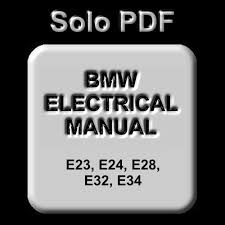 bmw e23 e24 e28 e32 e34 electrical troubleshooting manual ebay