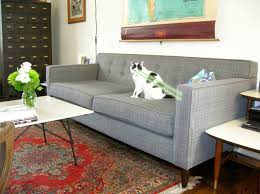grey tweed sofa mid century modern tweed sofa couch charles the sofa company