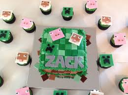 minecraft cake and cupcakes my crazy blessed life