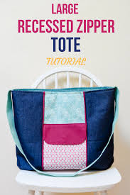 pattern for tote bag with zipper large zippered tote bag free pdf pattern tote tutorial tutorials