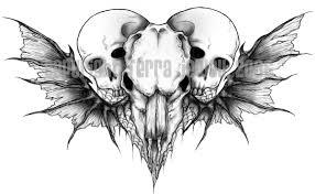 skull heart tattoo by astasia on deviantart