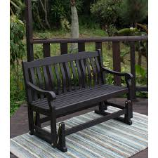 hampton bay isabella red metal outdoor bench s the home depot