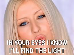 Light In Your Eyes Lyrics I Turn To You Lyrics Christina Aguilera Song In Images