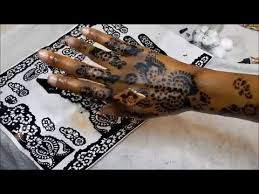 diy how i do my henna stencil