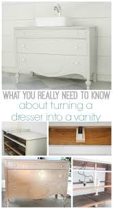 Bathroom Vanity With Vessel Sink by Best 25 Dresser To Vanity Ideas Only On Pinterest Dresser