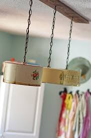 Diy Kitchen Lighting How To Upcycle Vintage Cake Tins To Diy Light Fixtures
