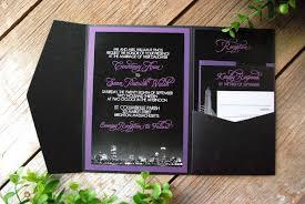 and black wedding invitations purple wedding invitation designs registaz