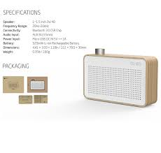 amazon com emie minimalist wooden portable bluetooth speaker