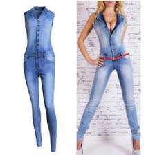 Jeans Jumpsuit For Womens Womens White Denim Overalls Online Womens White Denim Overalls