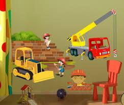 sticker chambre garcon stickers décors de chantier pour déco chambre enfant vente sticker
