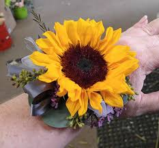 sunflower corsage prom the flower