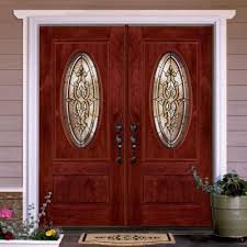 Feather River Exterior Doors Feather River Doors 74 In X81 625 In Silverdale Patina 3 4 Oval