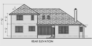 house plans with rear view traditional house plan w master bedroom on the floor