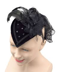 lace fascinator fascinator cocktail hat with black feathers lace 1940 s style