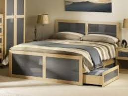 Mdf Bed Frame Julian Bowen Strada Light Oak Finish Mdf Bed Frame Buy At