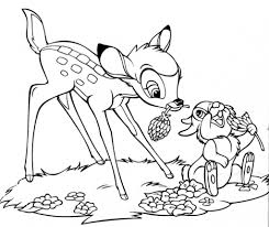 bambi coloring pages pixelpictart com