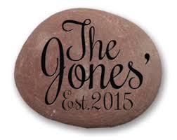 custom garden stone family established stone mediumlarge