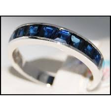 all sapphire rings images Wedding blue sapphire gemstone 18k white gold band ring r0028 jpg