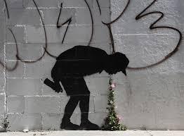 photo collection stencils graffiti banksy