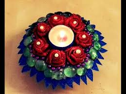Candle Holders Decorated With Flowers 10 Minutes Diy Decorative Candle Holder With Paper Plate And Foam