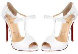 wedding shoes t bar friday fix christian louboutin belly nodo white t bar sandals