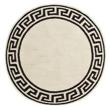 Round Rug 6 by Jonathan Adler Round Greek Key Border Rug Preppy Perfection