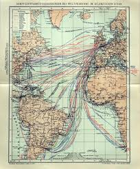Chicago Map 1890 by A German Map Of Atlantic Steamship Routes From 1895 Via Http