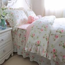 Flower Bed Sets Fadfay Sweet Lace Princess Bedding Cotton Green Pink