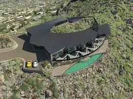 futuristic luxury home atop mummy mountain in paradise valley