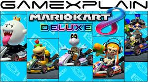 mario kart 8 deluxe gameplay 5 characters king boo
